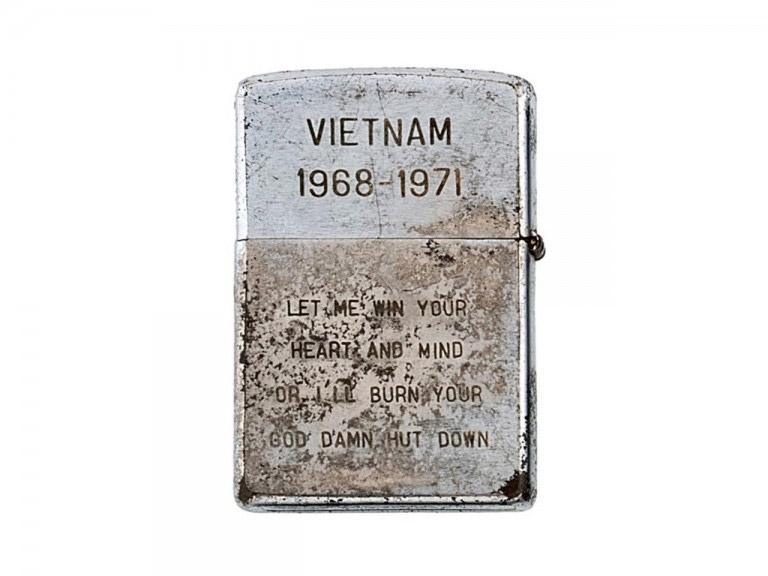Hộp quẹt Zippo được lính Mỹ sử dụng vào thời chiến tranh Việt Nam