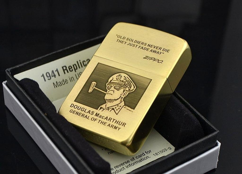 Mẫu hộp quẹt ZiPPO đồng thau mạ vàng xước