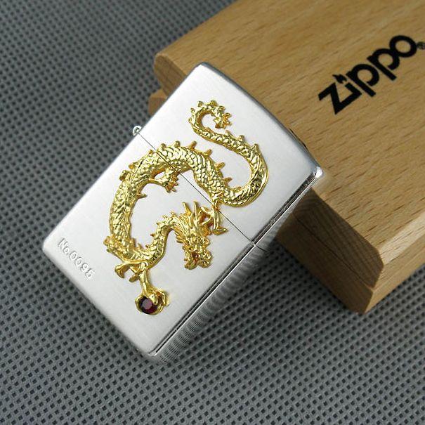 Mẫu ZiPPO Limited Edition bạc demi vàng