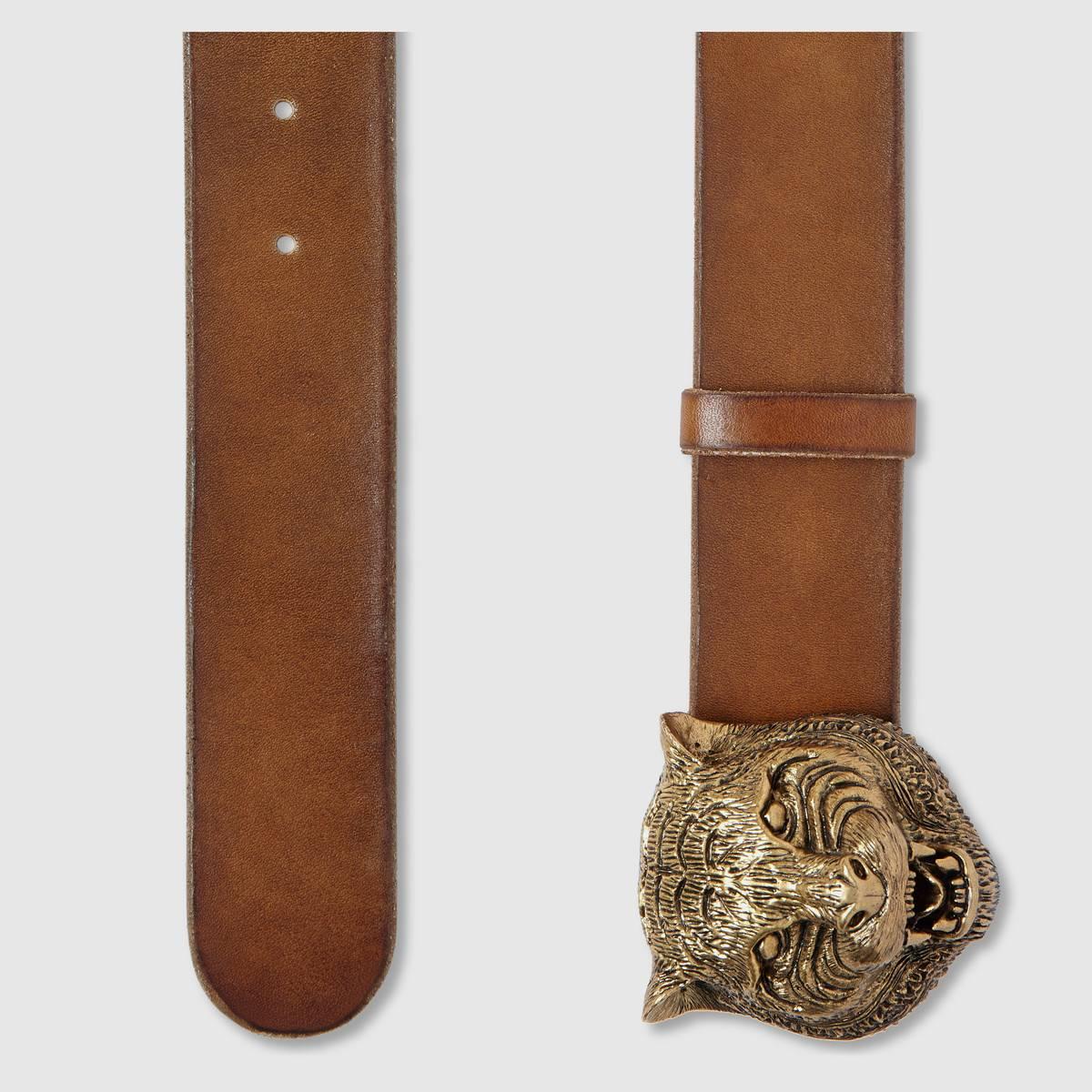 Thắt lưng Gucci chính hãng được làm từ da bò và da đà điểu cao cấ
