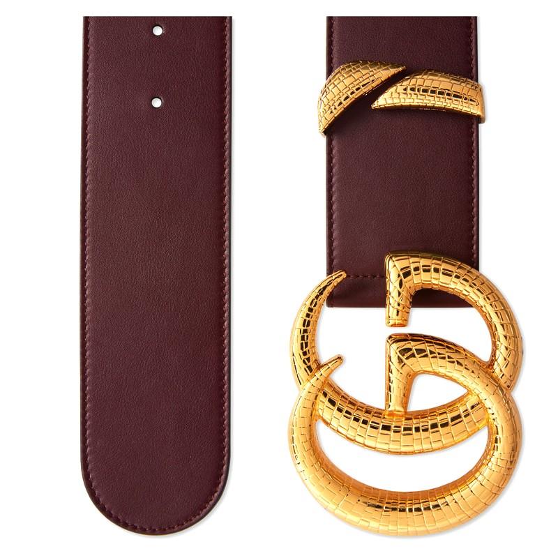 Mặt khóa mạ vàng cao cấp tăng sự thu hút của dây lưng hiệu Gucic