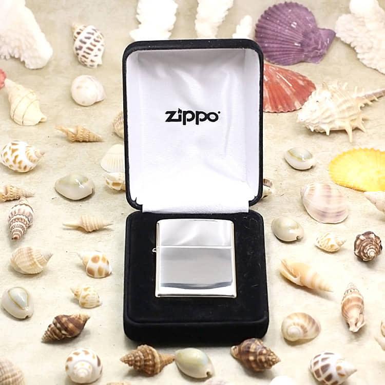 ZiPPO bạc khối chính hãng