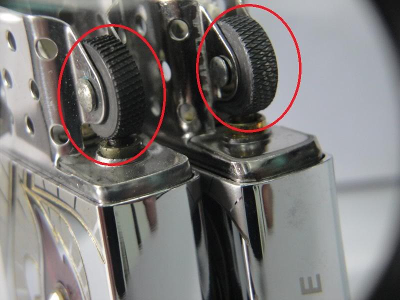 Sự khác biệt trong thiết kế bánh xe đẩy lửa giữa ZiPPO real và ZiPPO fake