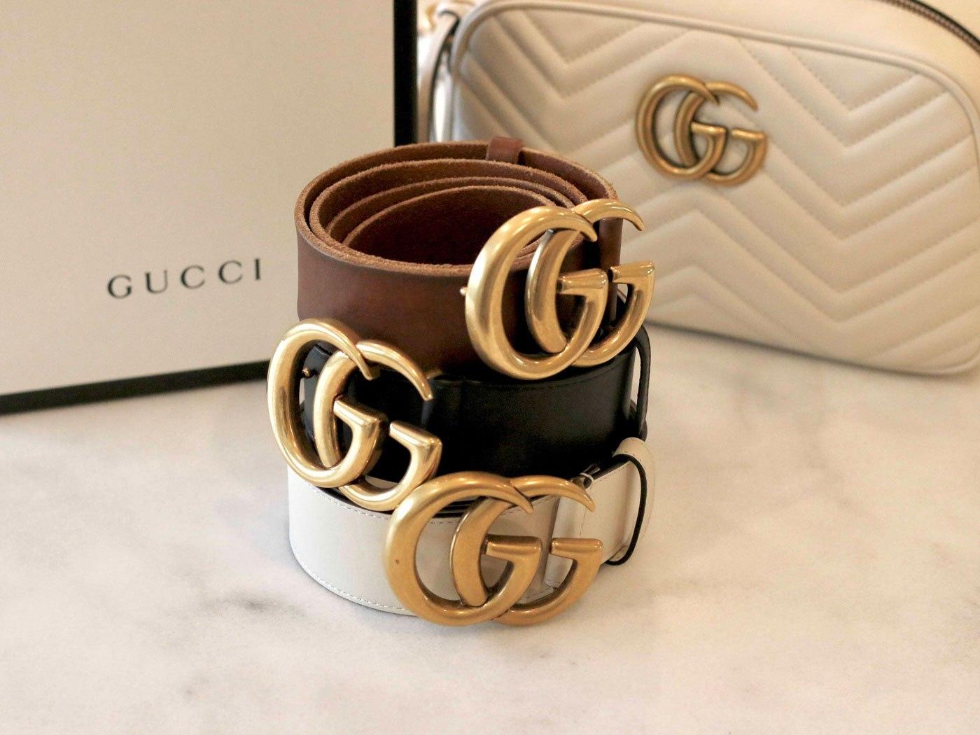 Các sản phẩm Gucci thật làm bằng chất liệu da cao cấp