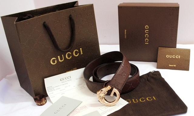 Phân biệt thắt lưng Gucci thật giả qua phụ kiện kèm theo