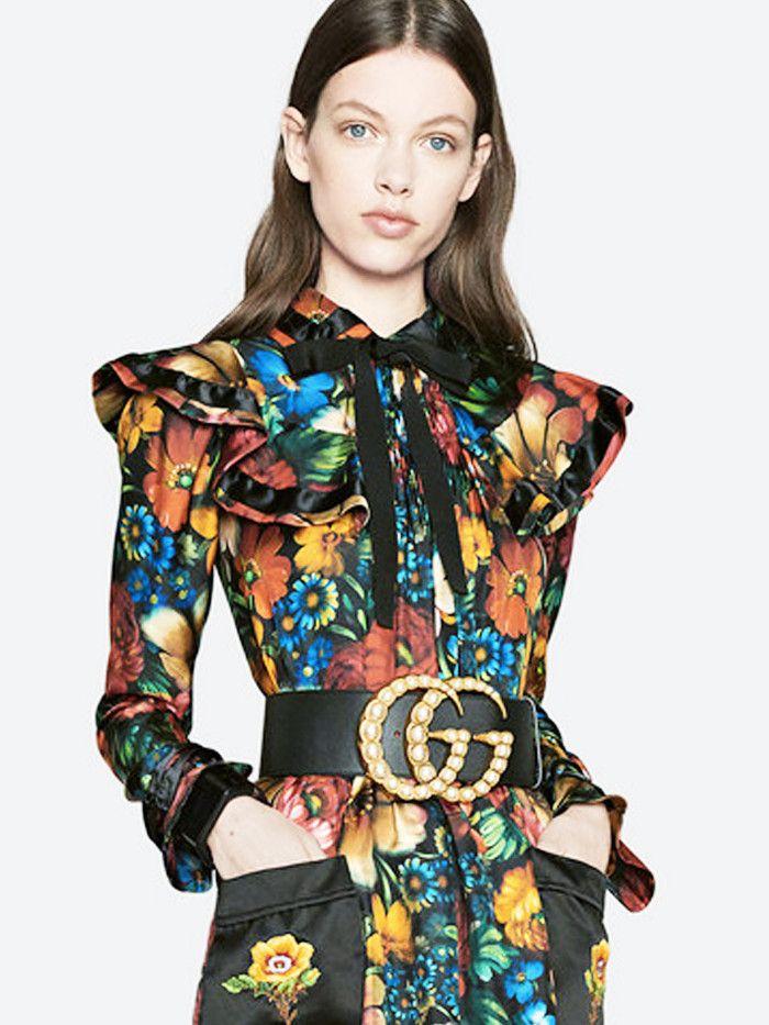 Dây lưng Gucci ngọc trai giúp nâng tầm bộ trang phục