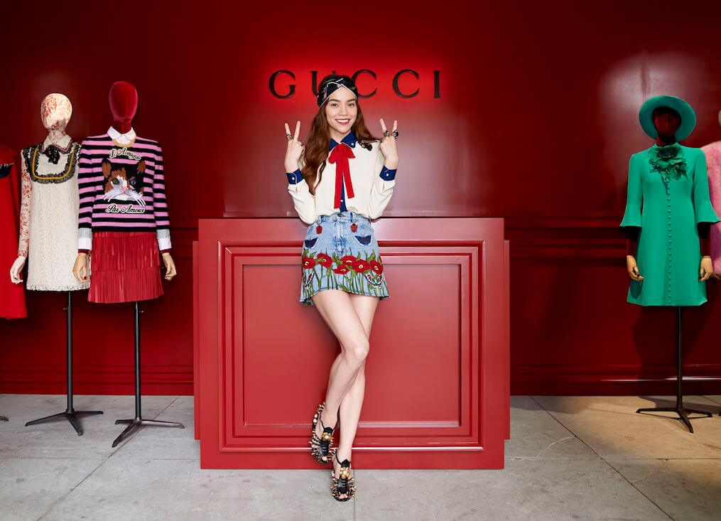 Hồ Ngọc Hà trở thành gương mặt thương hiệu cho Gucci tại Việt Nam