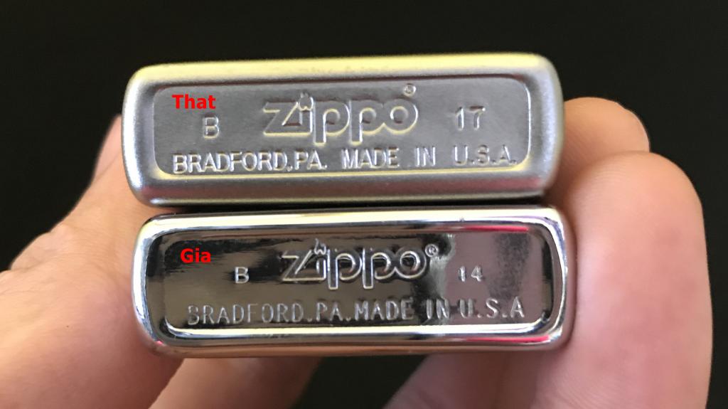 Cách nhận biết ZiPPO thật giả thông qua mộc đáy
