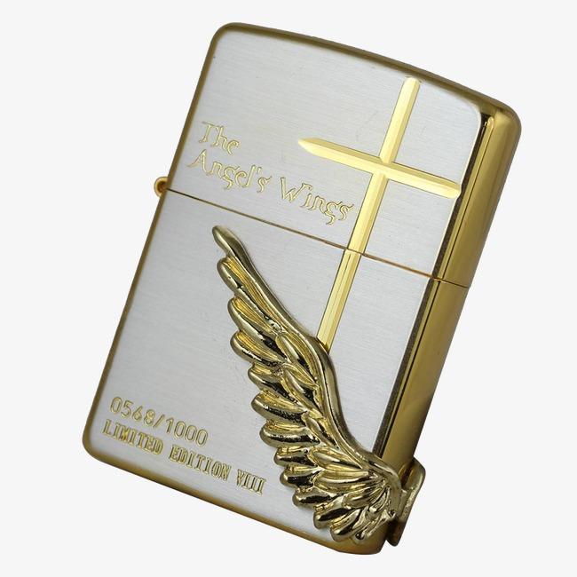 Mẫu bật lửa ZP289 mạ vàng cánh thiên thần và thánh giá