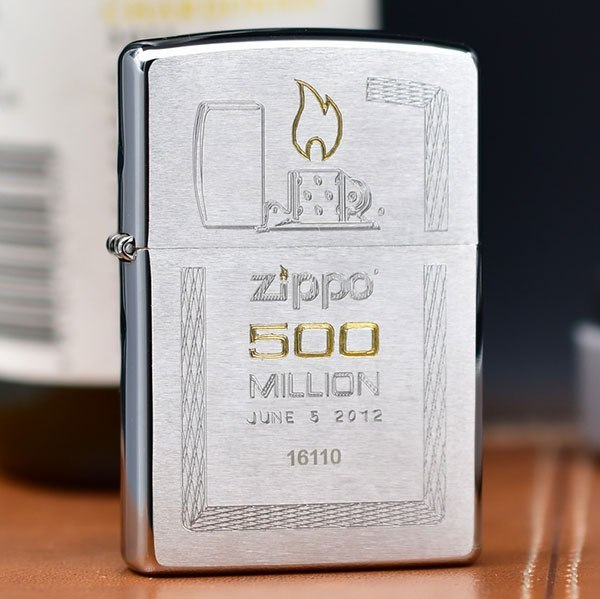 Mẫu ZiPPO kỷ niệm chiếc thứ 500 triệu bán ra thị trường ZiPPO Đà Nẵng
